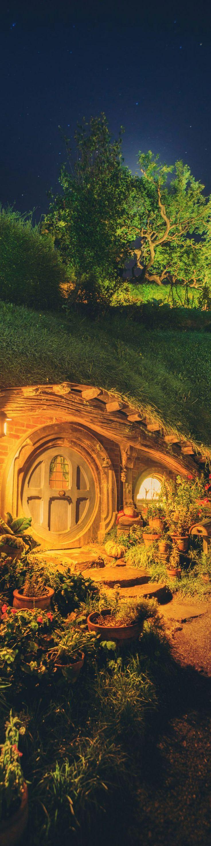 Hobbit Hole at Night