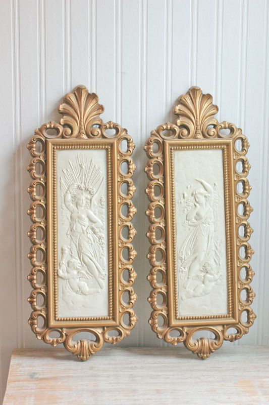 Hollywood Regency Homco Vintage Wall Art Nouveau By MollyFinds 3000