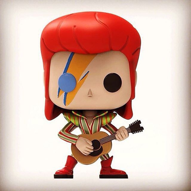 David Bowie Ziggy Stardust digital sculpt by Creation Crib. RIP