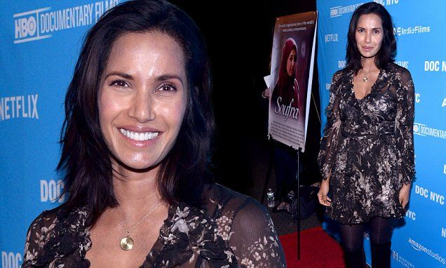 Top Chef star Padma Lakshmi is a feast for the eyes in floral gown