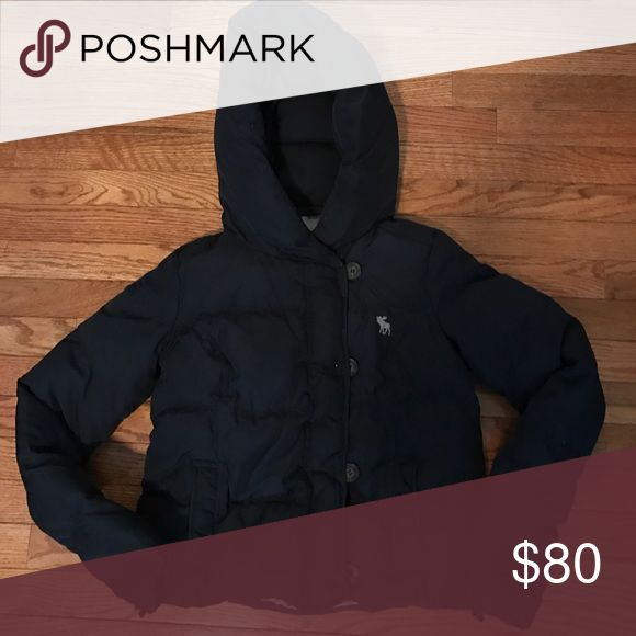 Abercrombie & Fitch Navy Blue Women's Puffer Coat Navy blue sz small Puffer coat Abercrombie & Fitch Jackets & Coats Puffers