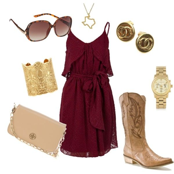Aggie Game Day, created by okeen1 on Polyvore. For Beau Byers #Shoutout