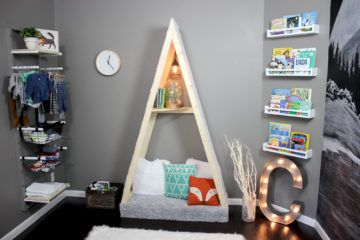 We liked the idea of an outdoor themed nursery, but didn't want it to look too campy or too rustic so we decided to design a modern outdoor themed nursery.