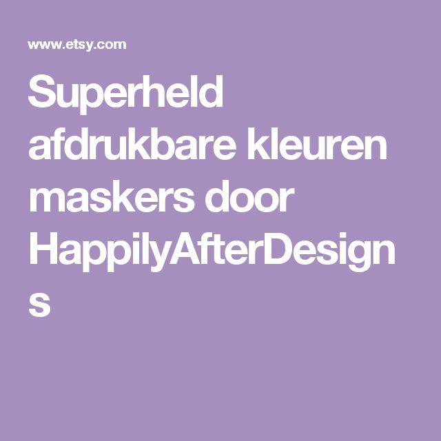 Superheld afdrukbare kleuren maskers door HappilyAfterDesigns