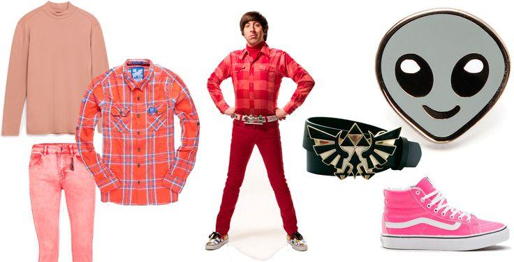 HOWARD WOLOWITZ, En la imagen: Jersey de cuello Perkins de Zara, camisa de cuadros de SuperDry, pantalones skinny de Topman, cinturón de Nintento de MerchandisingPlaza, zapatillas rosas de Vans y pin de Alien.