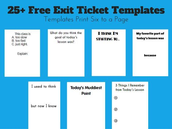 24 best CR Testing\/Assessing 1, 2, 3, images on Pinterest - exit ticket template