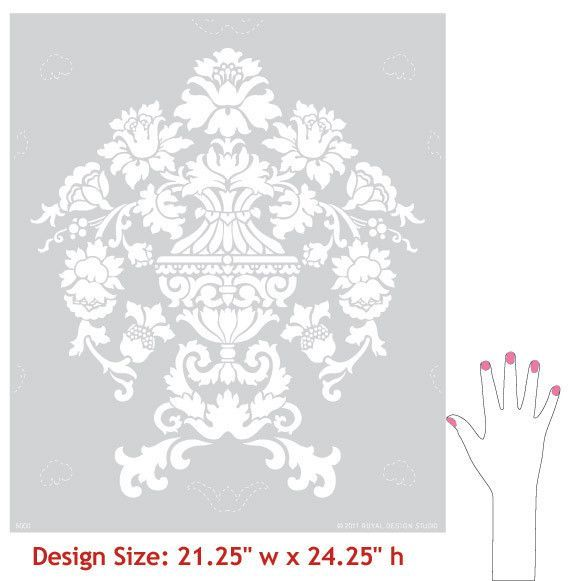 Wall Stencil | Encantada Damask Stencil | Royal Design Studio $ 49.00