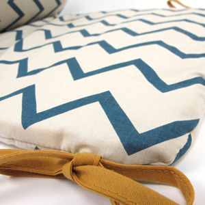 Tour de lit coton Zigzag Blue Constantinople Nobodinoz