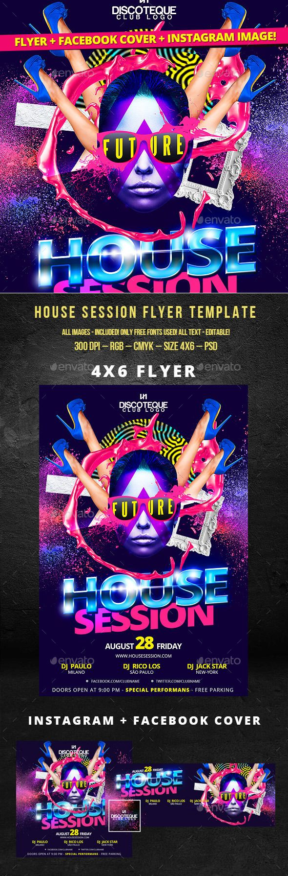 PSD  Nightclub Flyer  Template • Click here to download ! graphicriver.net/…