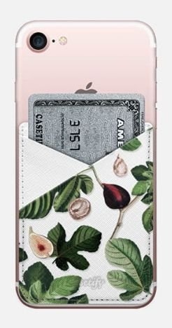"Fifikoussout ""Fig"" Saffiano Vegan Leather Phone Wallet on Casetify. Click! #Casetify #iPhone #iPhonecase #iPhoneWallet #botanical #floral"
