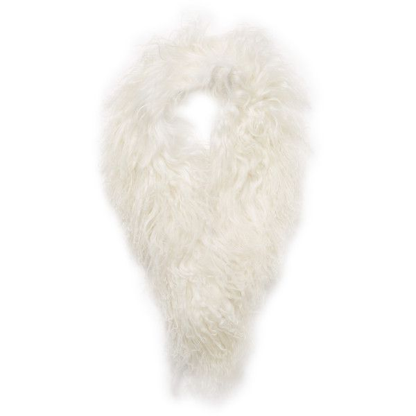 "Adrienne Landau Women's Mongolian Lamb Fur Clip Scarf, 31"" x 3"" ($55) ❤ liked on Polyvore featuring accessories, scarves, no color, long shawl, oblong scarves, fur shawl, fur scarves and adrienne landau"