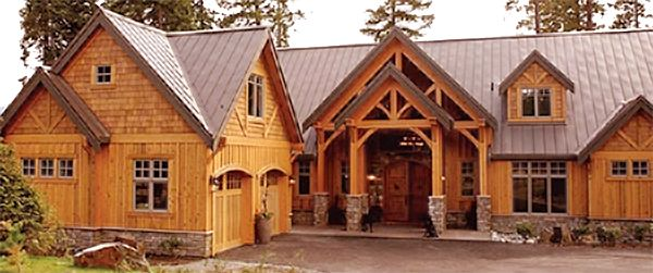 Inspiration Gray Metal Roof Cedar Siding Exterior