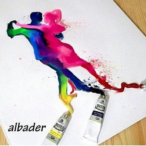 #Dancers #paint