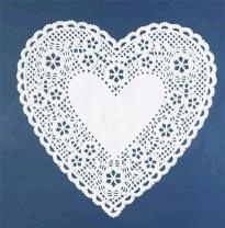Heart Doily (white tattoo?)