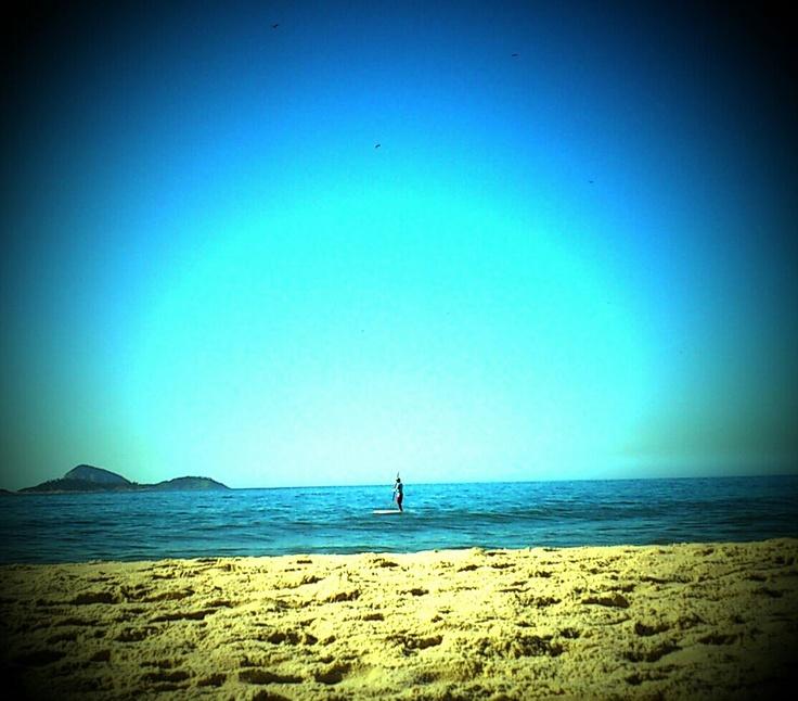 Alone on the beach of Ipanema