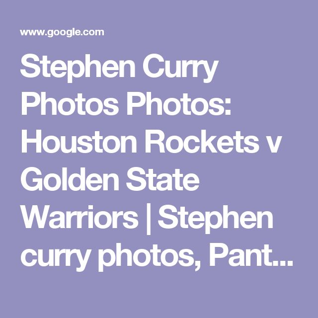 Stephen Curry Photos Photos: Houston Rockets v Golden State Warriors | Stephen curry photos, Panthers and Houston rockets