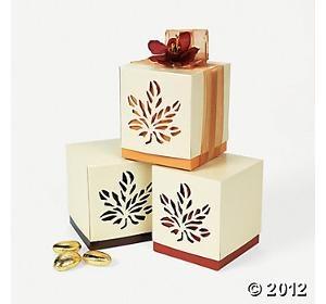 Fall Wedding Favor Boxes