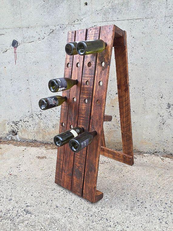 17 ideen zu rustikale weinregale auf pinterest palette for Weinregal rustikal