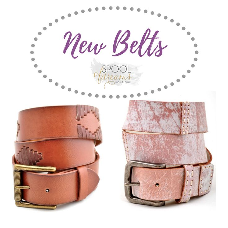 New arrivals and these MUST HAVE Leather belts!   Shop In-store or online here:   #belts #leather #bohogoods #shopsod #visitcartersville #wardrobeessential #ineedthemall #whowearsbelts #raisehand