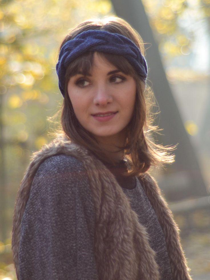 Tenderside merino wool headband in boho style. Available on www.tenderside.com