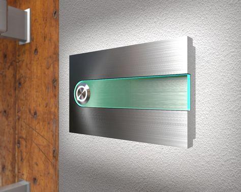 Klingelknopf24.de - Türklingeln von Cyber-Tec-Design - Moderne Edelstahklingel mit Ambilight