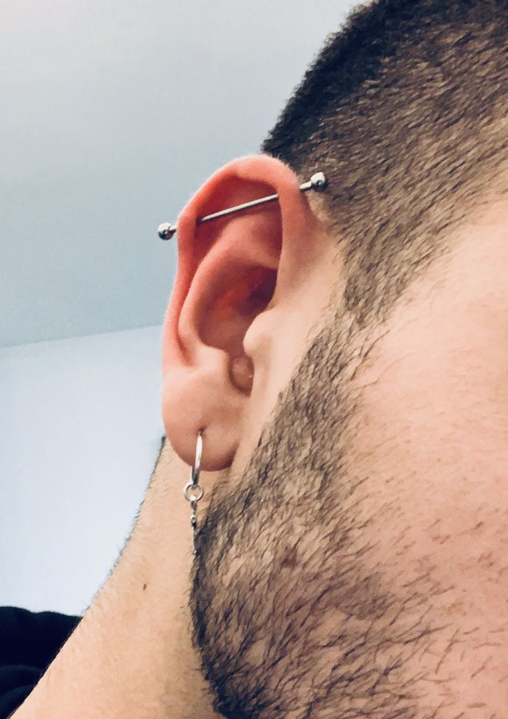 Guys With Nose Piercings, Mouth Piercings, Unique Ear Piercings, Types Of Ear Piercings, Cartilage Piercing Men, Eyebrow Piercing Men, Nose Bridge Piercing, Ear Piercings Industrial, Industrial Earrings