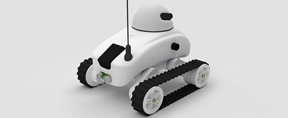 An awesome, futuristic, all-in-one robotchassis