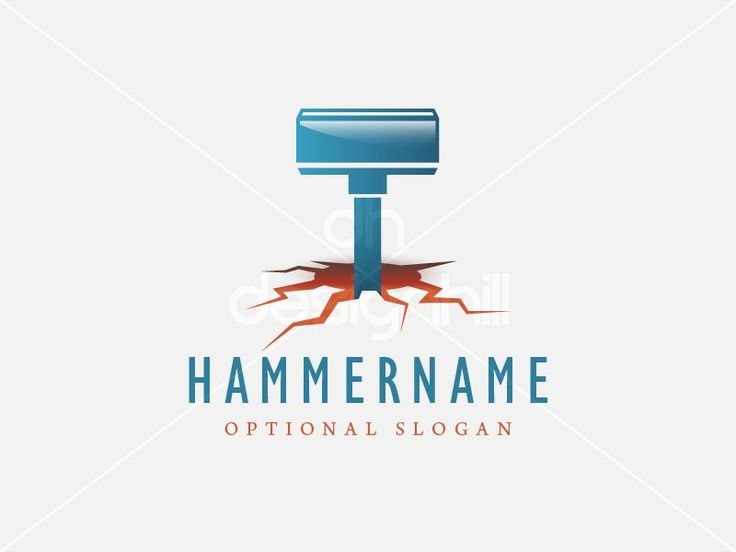 New logo design for sale on Design Hill - energy, earth, strong, power, tool, fire, heavy, impact, hammer, ground, burning, weapon, hole, shake, crack, cracked, red-hot, quake, pit, tremor, letter T, hell, destruction, mace, flame, hot, forge, hearth, furnace, smith, metal, heat, logo, design, template,