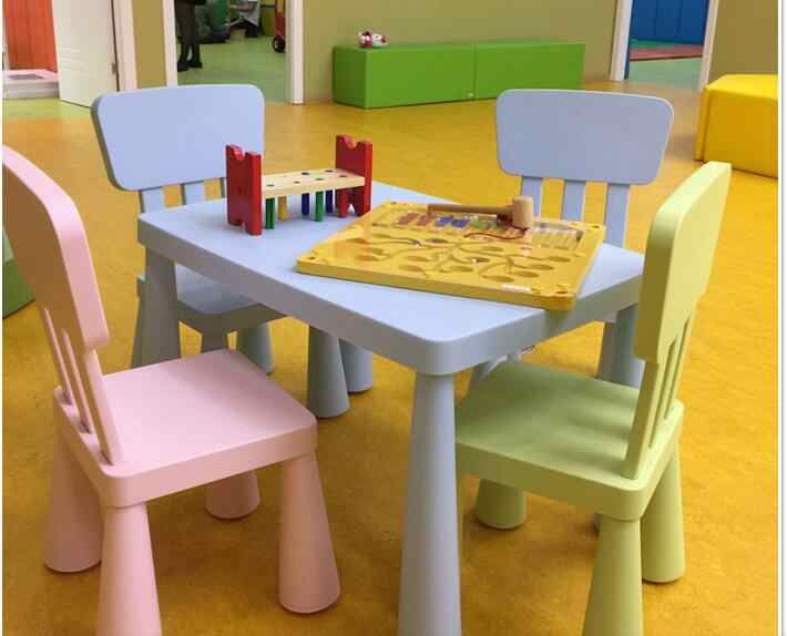 Thick Rectangular Table Children Tables, Toddler Table And Chairs Set