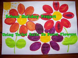 A Pretty Talent Blog: School Holiday Project: Painting Flowers Using Toilet Rolls
