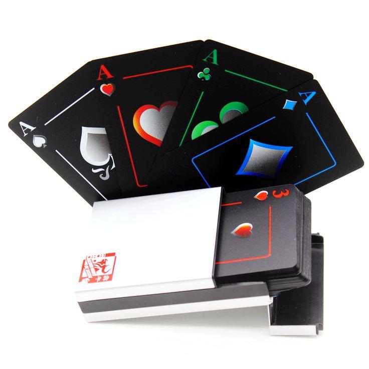 Caja de aluminio Resistente Al Agua Helada PVC Colección Poker Naipes Novedad Alta Calidad Juego de Mesa Regalo Duradero