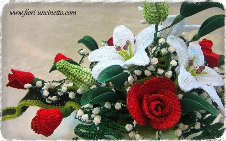 Fiori Uncinetto - Crochet Flowers - Fiori all'Uncinetto - Crochet Flowers