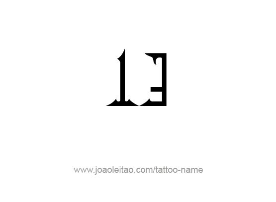 Tattoo Design Number Thirteen
