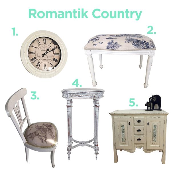 Country tarz mobilyalar ile evinde romantik havayı yaşat!  country, style, home decor, white, furniture