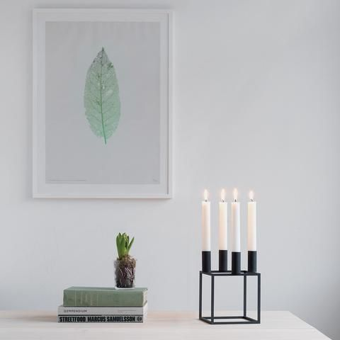 Kubus 4 Candleholder in Black by Lassen is becoming a signature staple of modern decor. It's sure to impress and draw attention to your scandi accents.
