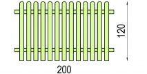 Płot sztachetowy 1200 x 2000