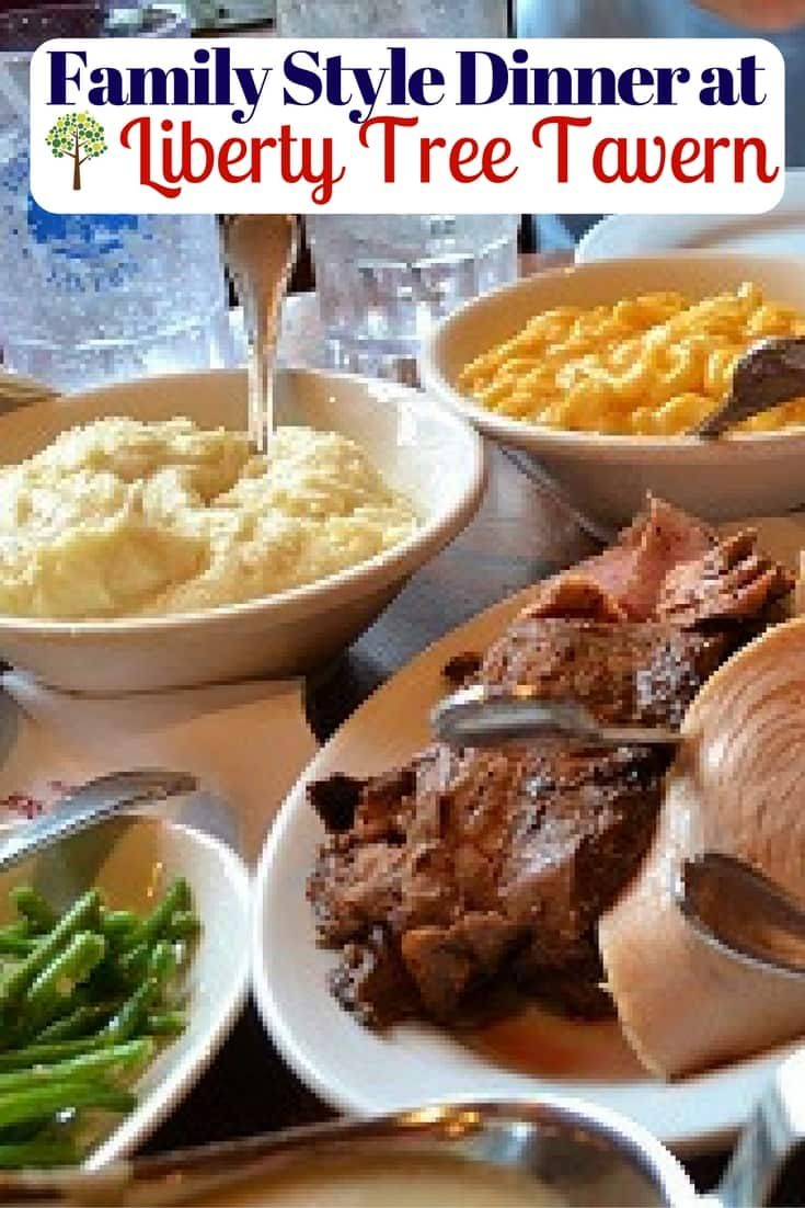 Family Style Thanksgiving Dinner at Liberty Tree Tavern in Magic Kingdom via @disneyinsider