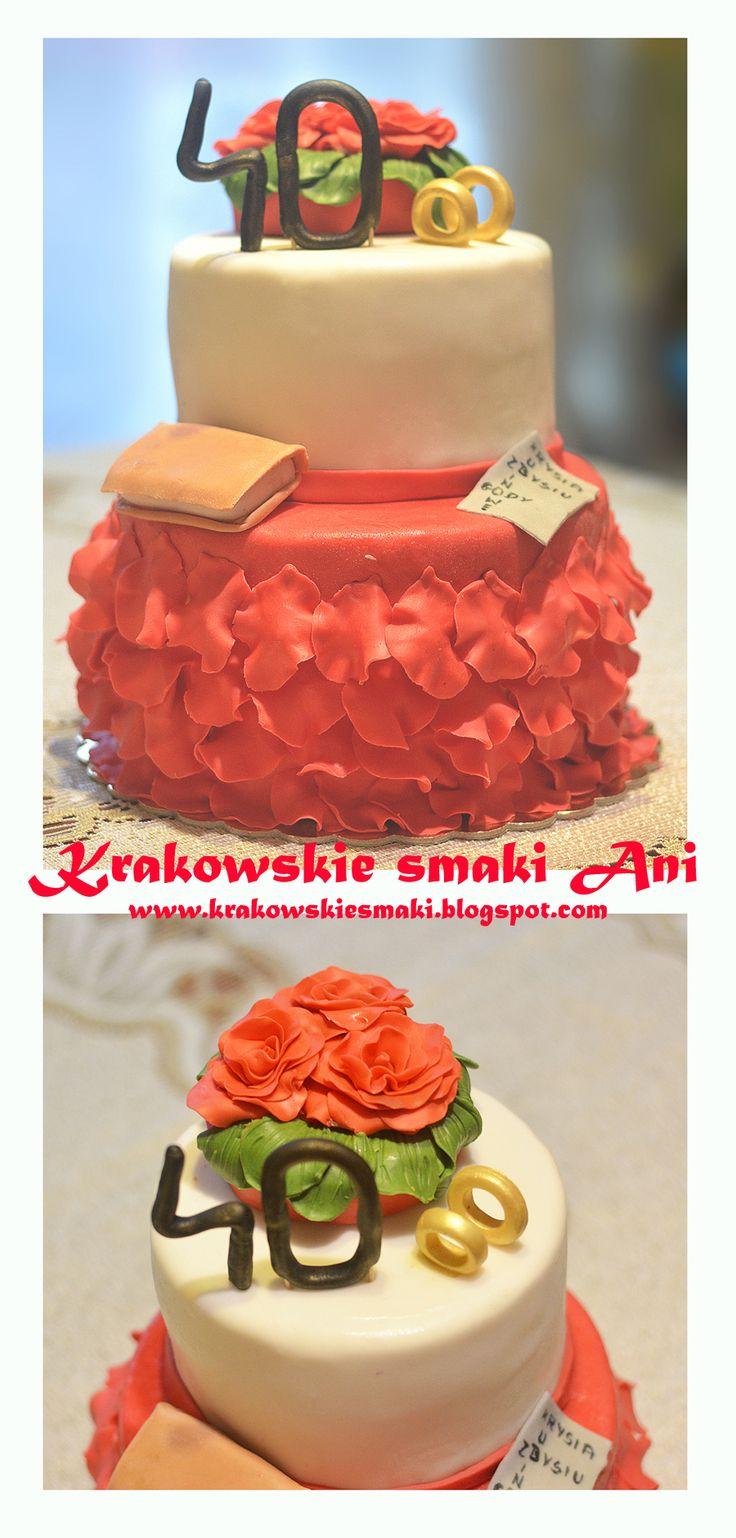 Tort z okazji 40 rocznicy ślubu