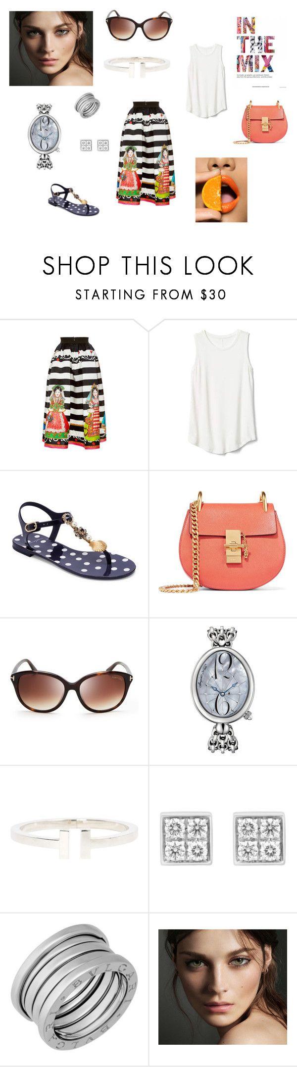Летнее настроениме by alisa-onma on Polyvore featuring мода, Gap, Dolce&Gabbana, Chloé, Tiffany & Co., Breguet, Bulgari, Tom Ford and Burberry
