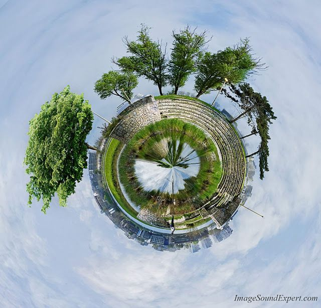 Image and Sound Expert: circle photography - tiny planet, parcul tabacarie...