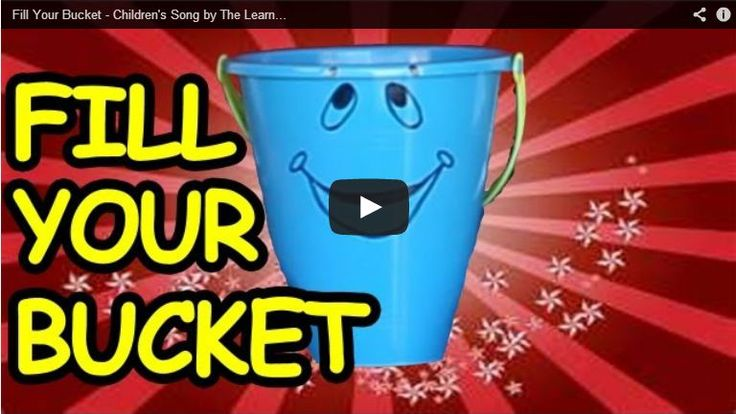 Fill Your Bucket Song by The Learning Station. Great song to teach children the value of kindness, love, and compassion!