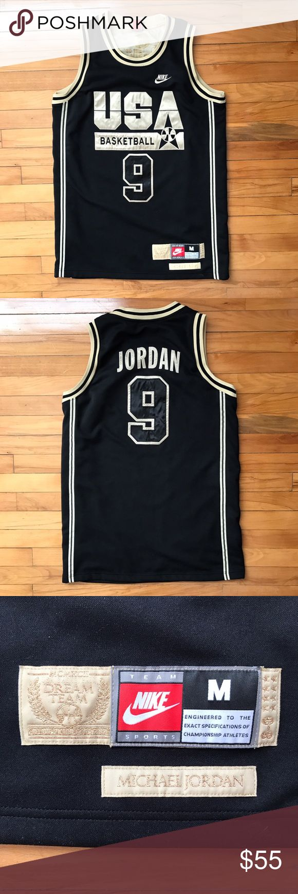 Michael Jordan Dream Team jersey Special edition MJ jersey. Thick material. Has all the Team USA scores printed in gold ink on the inside of the jersey! Nike Shirts Tank Tops