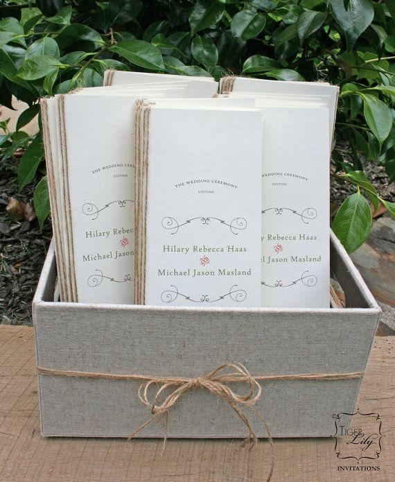 Rustic Twine Wedding Program Sample by TigerLilyInvitations