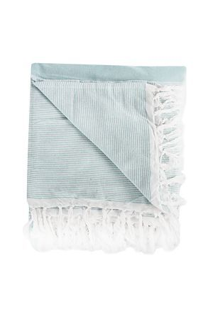 """Add this 100% cotton throw as a finishing touch to your bed set. This throw features a fringe boarder and is machine washable. Measures 200x220cm.<div class=""""pdpDescContent""""><BR /><b class=""""pdpDesc"""">Dimensions:</b><BR />L220xW200 cm<BR /><BR /><b class=""""pdpDesc"""">Fabric Content:</b><BR />100% Cotton<BR /><BR /><b class=""""pdpDesc"""">Wash Care:</b><BR>Gentle cycle cold wash</div>"""