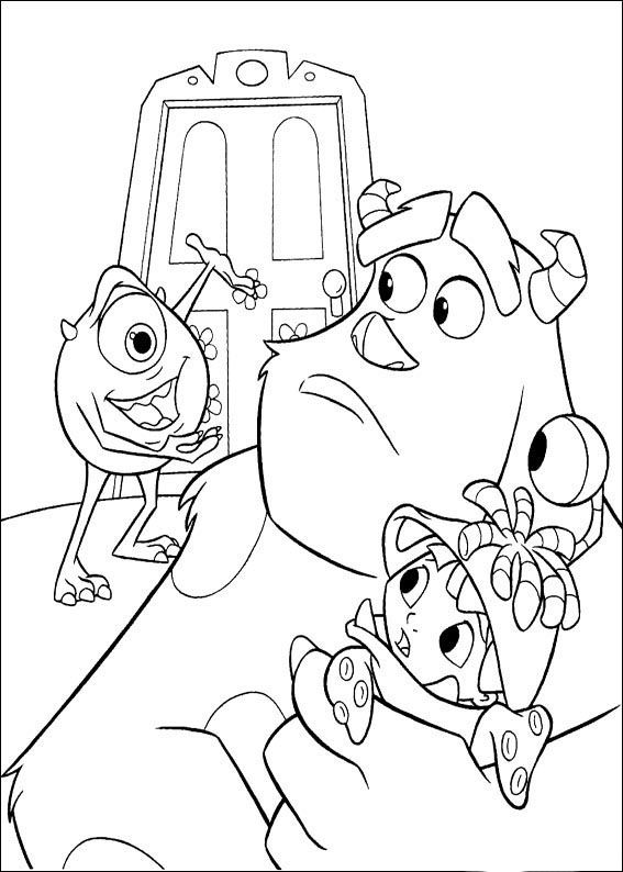 What About To Print And Color This Awesome Coloring Page From The Film Monsters Inc