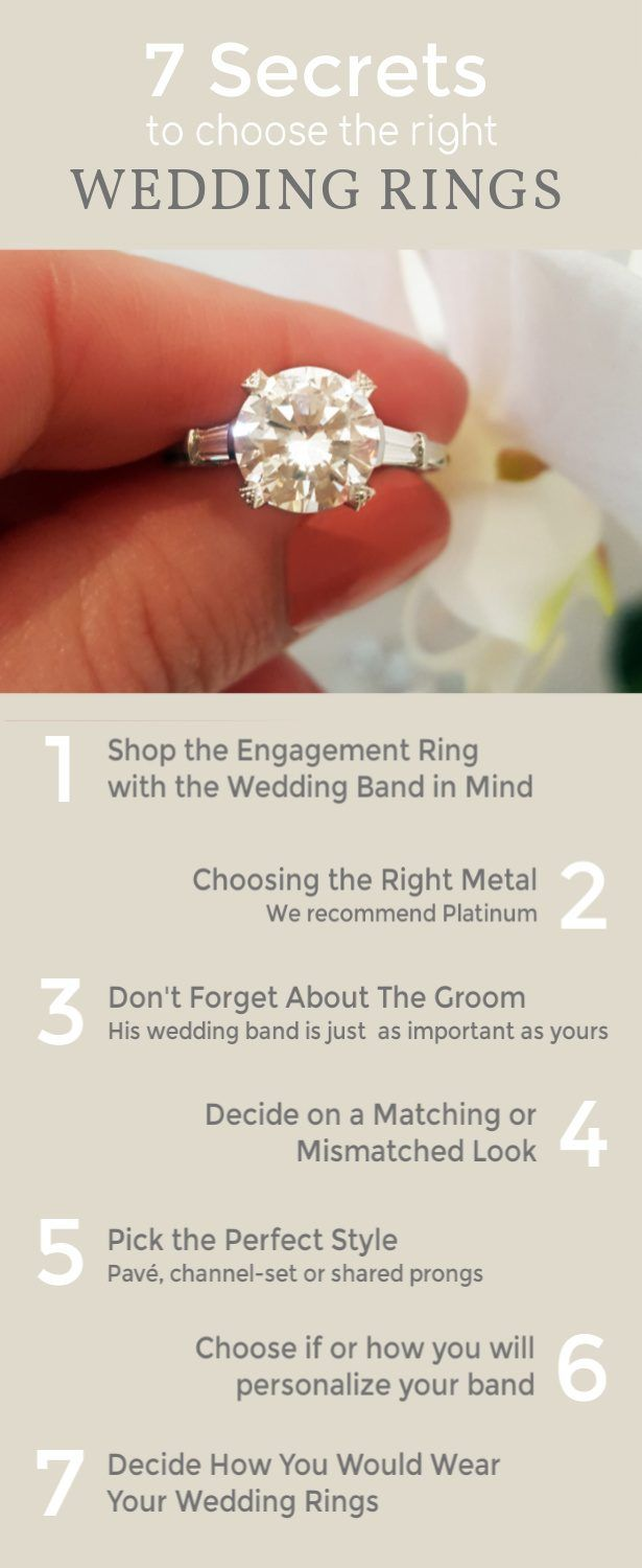 7 Tips To Choosing The Right Wedding Band For Your Engagement Ring Wedding Bands Wedding Rings Engagement Choosing Your Engagement Ring