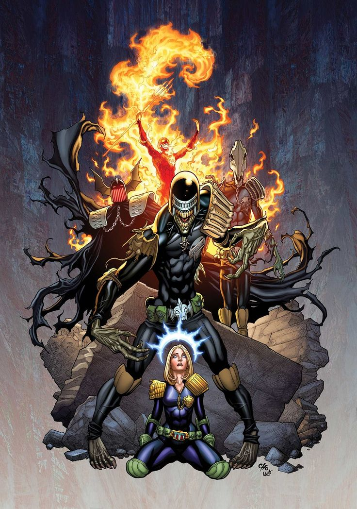Judge Anderson and the Dark Judges by Frank Cho *