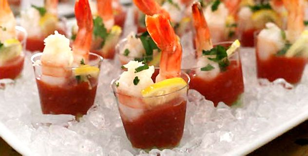 shrimp cocktail in a shot glass - Google Search