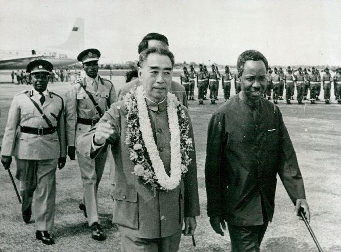 China's Chou En-Lai Tours Tanzania With President Julius Nyerere 1965