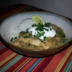 Pork Stew in Green Salsa (Guisado de Puerco con Tomatillos) Served with beans instead of rice to keep it Low-carb.
